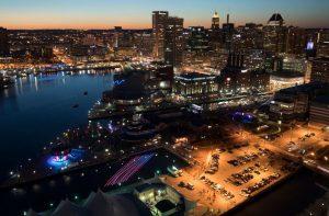 Baltimore Light City Skyline