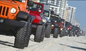 Jeep Beach - Line up