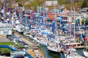 Aerial Annapolis Sailboat