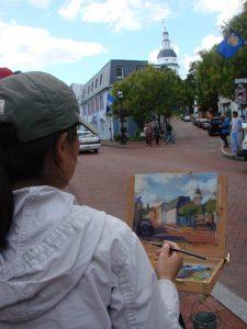 Plein Air Painter on Main Street(1)