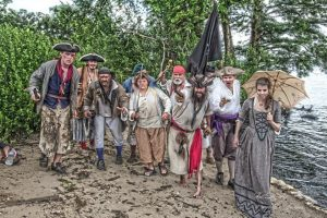 Pirates on beach