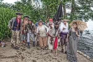Pirates on beach