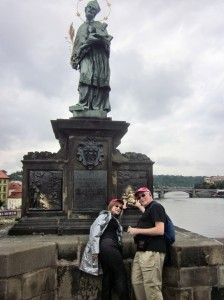 St John statue on Charles Bridge