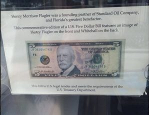 Flagler Five Dollar Bill